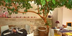 Restaurant avec terrasse Nîmes pour manger dehors sur une table à l'extérieur (® SAAM-fabrice Chort)